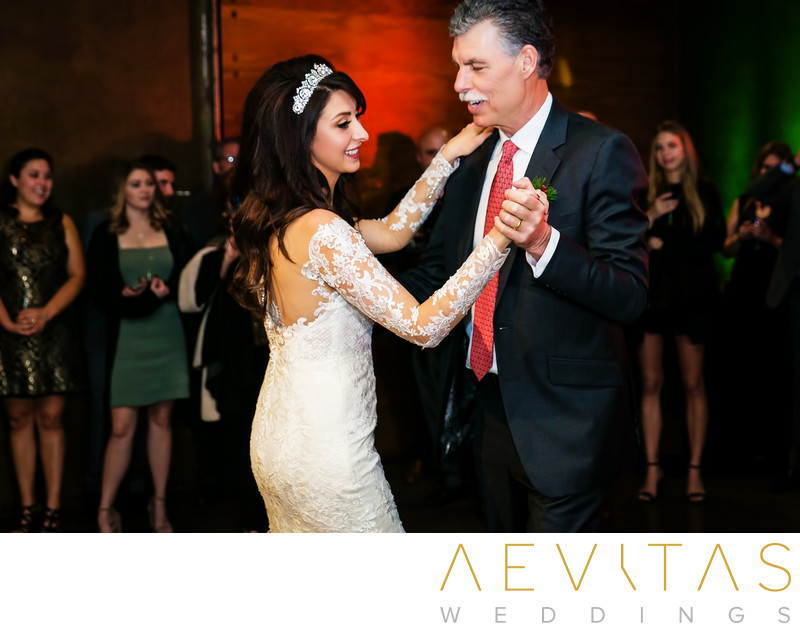 Father-daughter dance at Tiato wedding reception