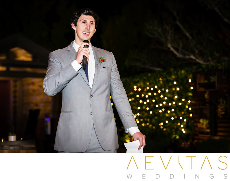 Brother's speech at Tiato Christmas wedding reception