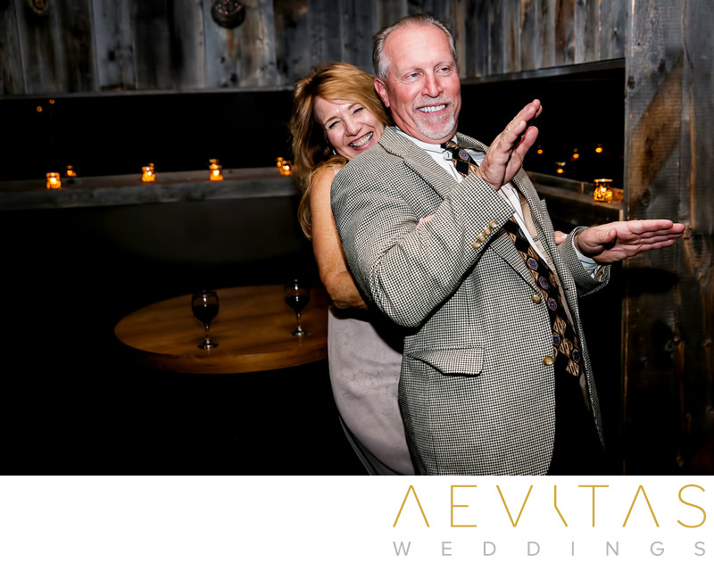 Playful dance floor photo at Tiato wedding reception
