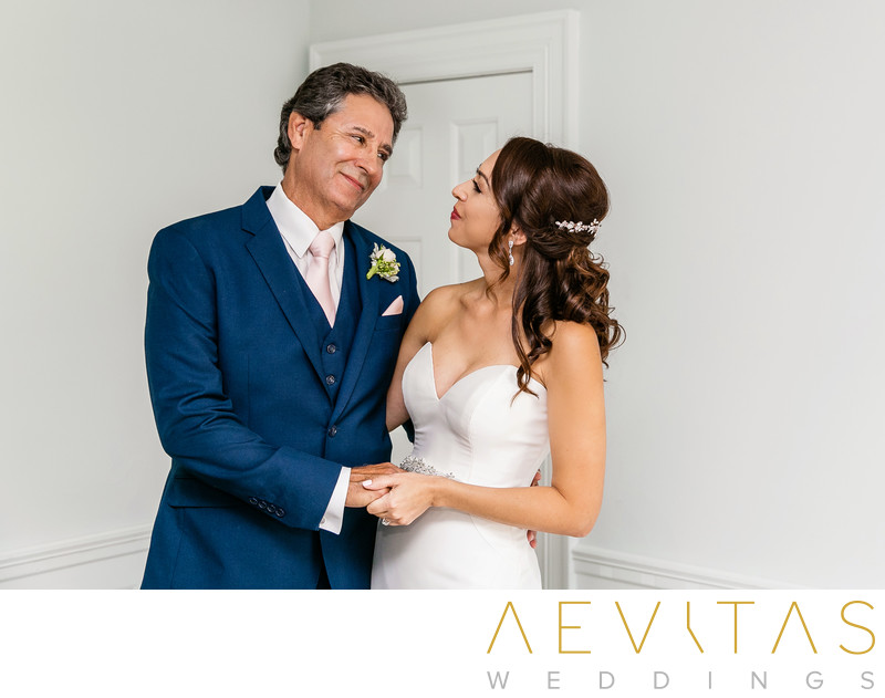 Special father-daughter moment at Santa Monica wedding
