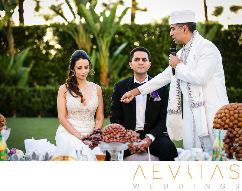 Persian wedding ritual at Hotel Irvine ceremony