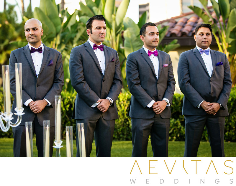 Groomsmen at Persian wedding in Southern California