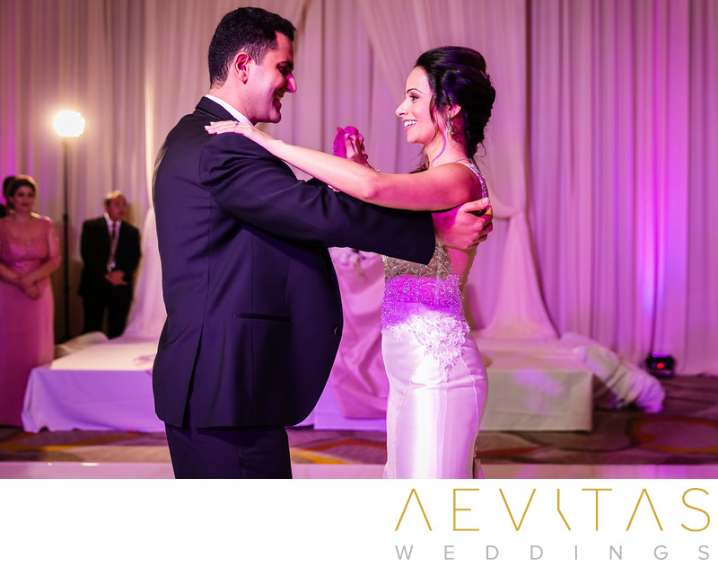 Couple perform first dance at Irvine wedding reception