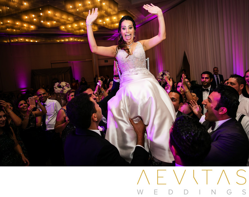 Bride Persian chair dance by LA wedding photographer