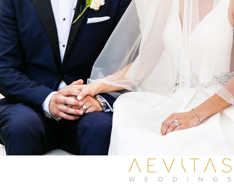 Couple holding hands by Sacramento wedding photographer