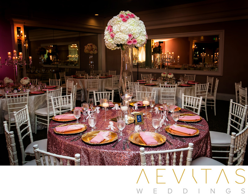 Table settings at Arden Hills Resort Club ballroom