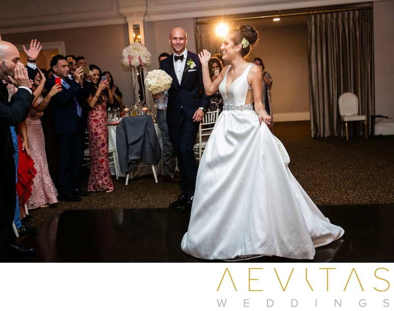 Bride welcomed at Arden Hills Resort ballroom reception