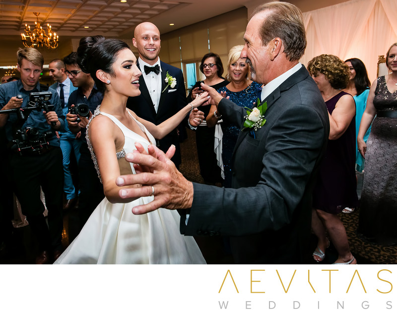 Bride and father dancing at Arden Hills reception
