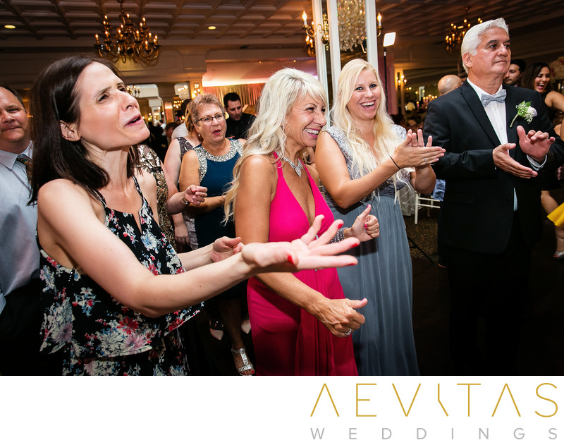 Wedding guest reactions at Arden Hills ballroom party