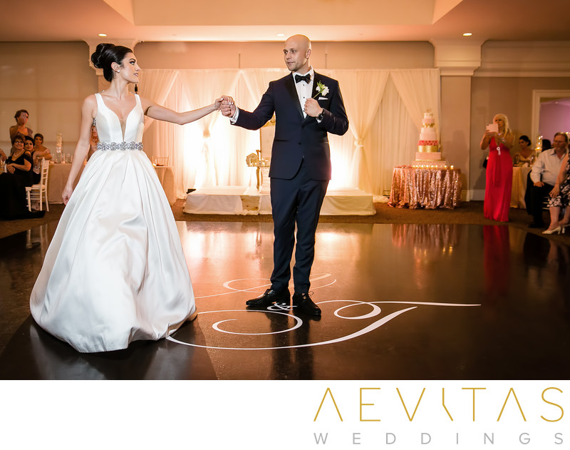 Couple first dance at Arden Hills Resort reception