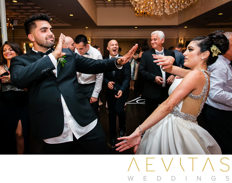 Bride dancing with brother at Arden Hills reception