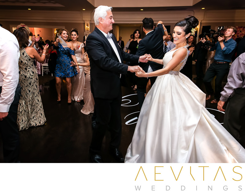 Bride dancing with father at Arden Hills Resort wedding