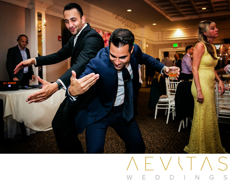 Funny wedding guest dancing photo at Arden Hills Resort