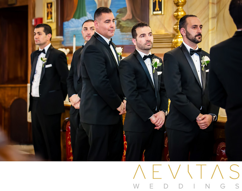 Groomsmen at Saint Mary's Armenian Apostolic Church