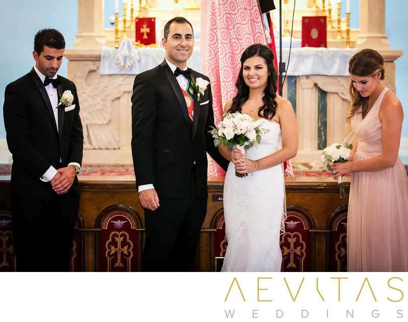 Couple at Saint Mary's Armenian Apostolic Church altar