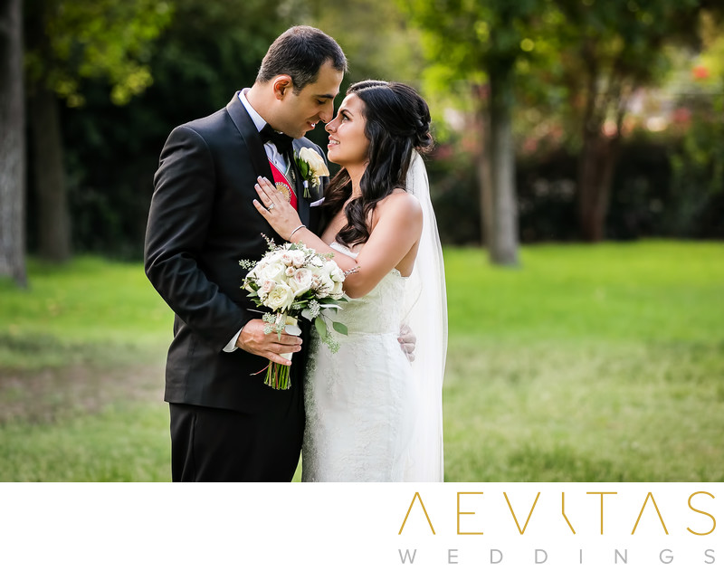 Gorgeous couple portrait at Brand Park in Glendale