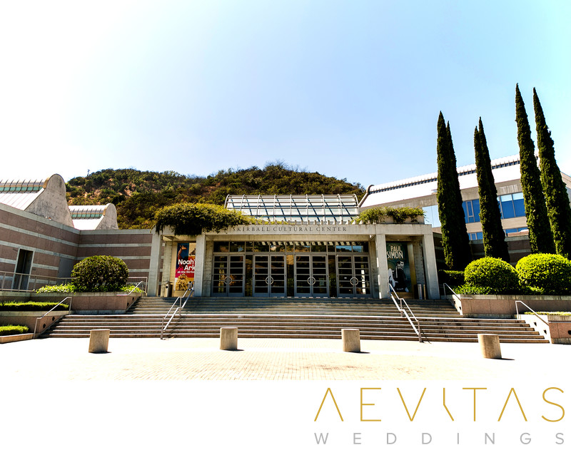 Skirball Cultural Center by LA wedding photographer