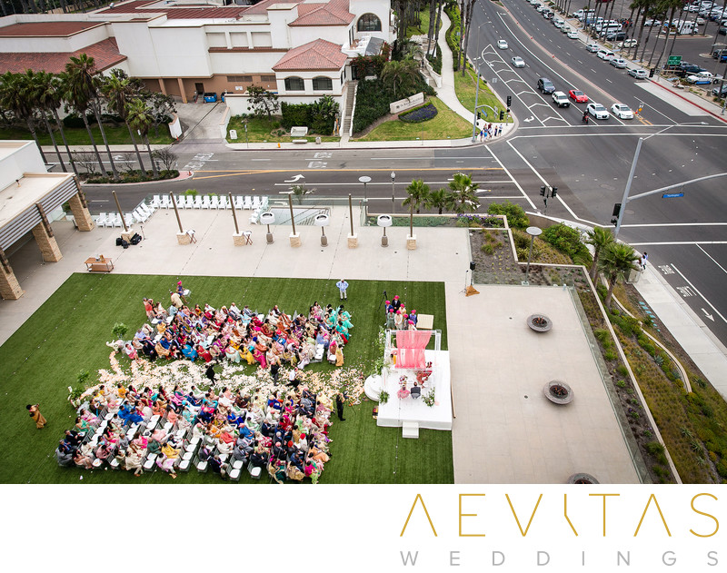 Bird's eye view of garden wedding Pasea Hotel And Spa