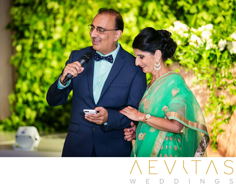 Parents-of-the-groom speech at Pasea Hotel wedding