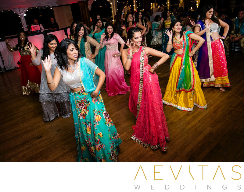 Dancing at multi-day Indian wedding in Newport Beach