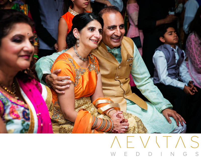 Parent reactions at Indian Sangeet in Newport Beach