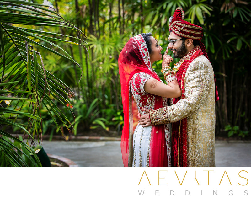San Diego Indian wedding garden portrait session