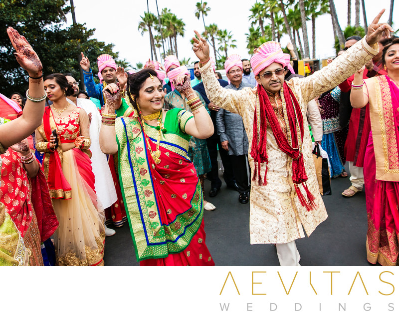 Parents lead Indian wedding procession in San Diego
