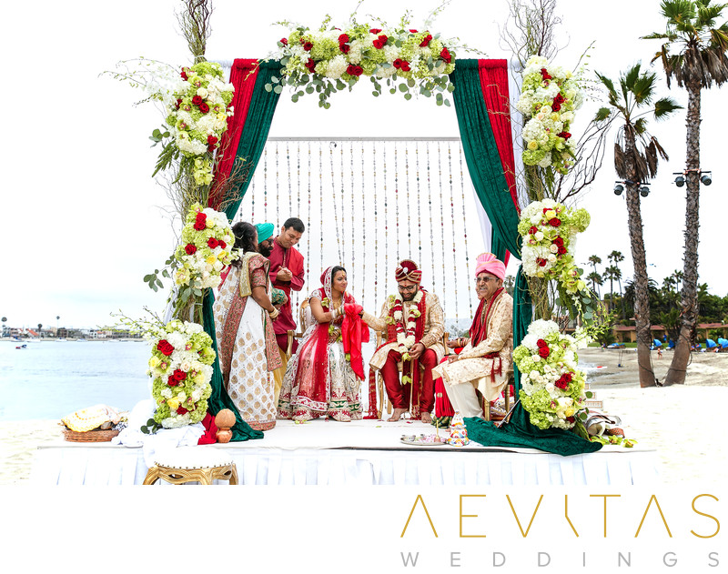 Indian wedding mandap stage at Bahia Resort Hotel