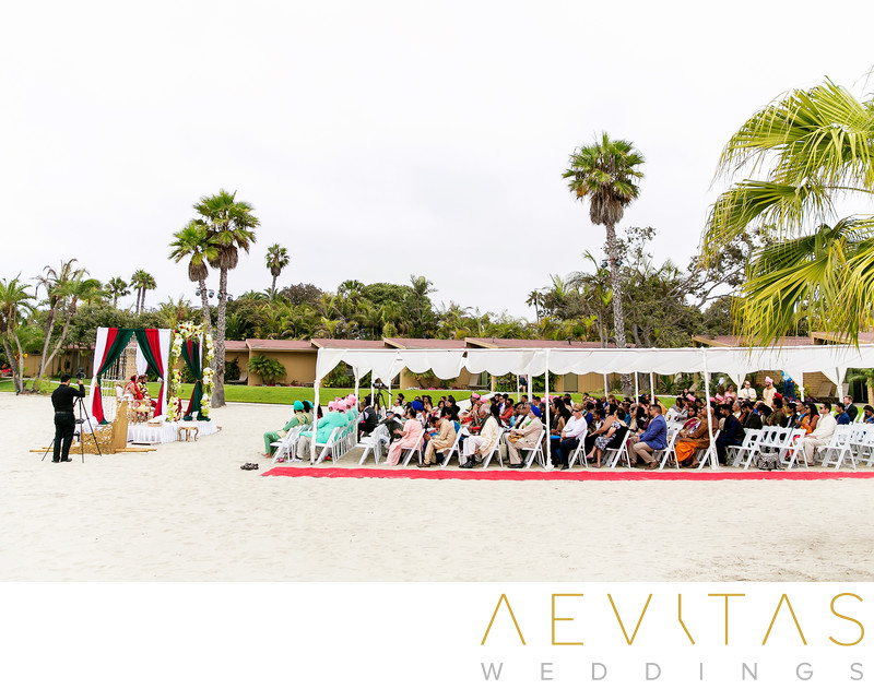 Wedding ceremony beach venue at Bahia Resort Hotel