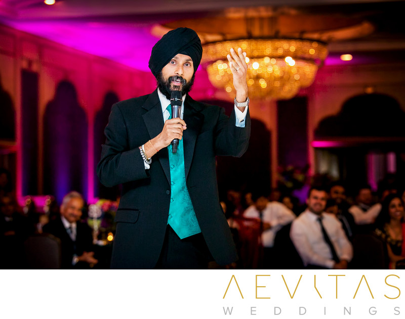 Speech at Sikh wedding reception in San Diego