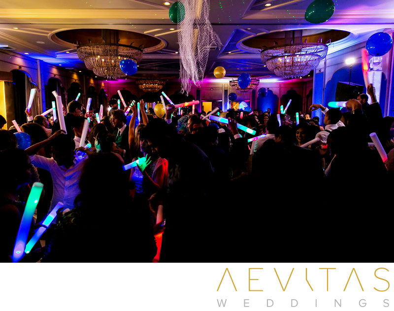Dance floor with glow sticks at Bahia Resort Hotel