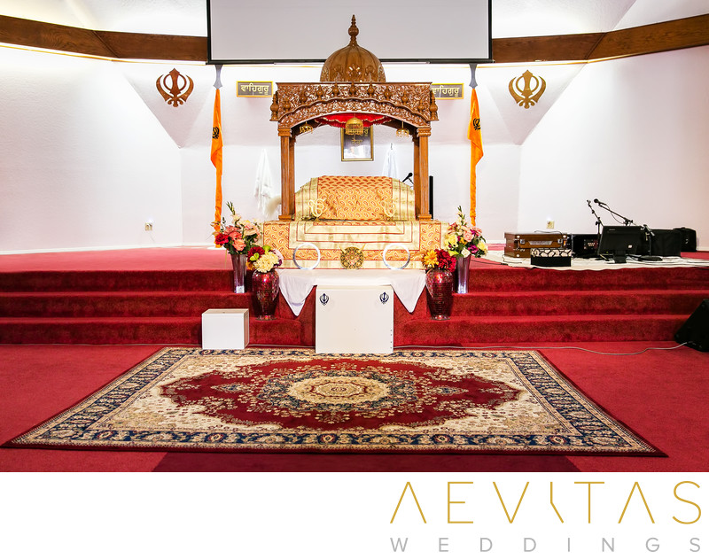 Inside the Sikh Gurdwara Temple in Poway, San Diego
