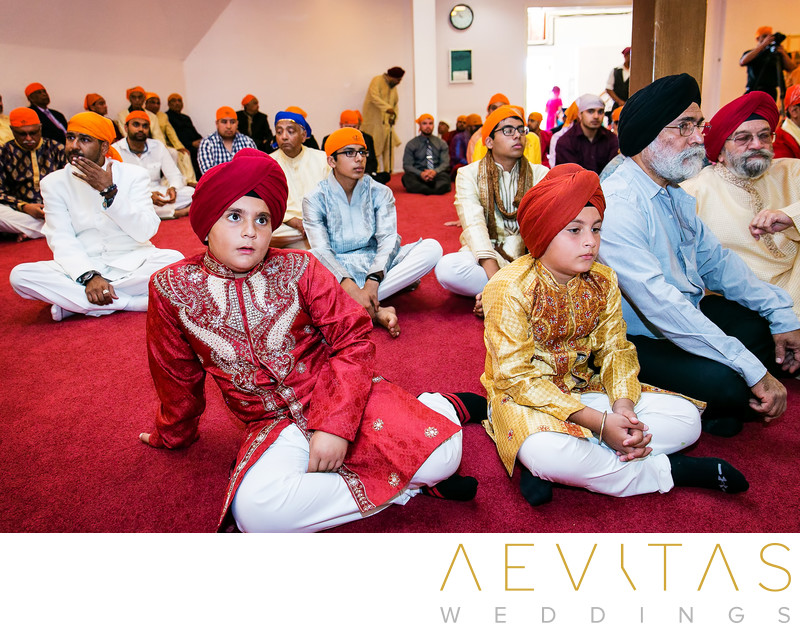 Young guests at Sikh Gurdwara Temple in Poway