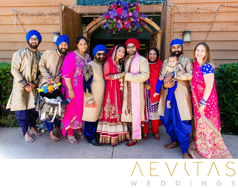 Family formal at Sikh Gurdwara Temple in Poway