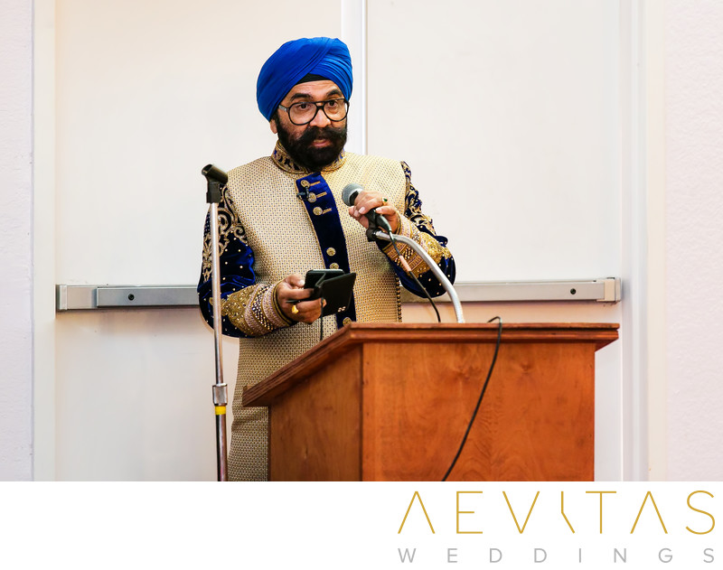 Father speech at Sikh wedding in San Diego