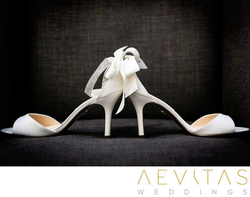 Bridal shoes by Los Angeles wedding photographer
