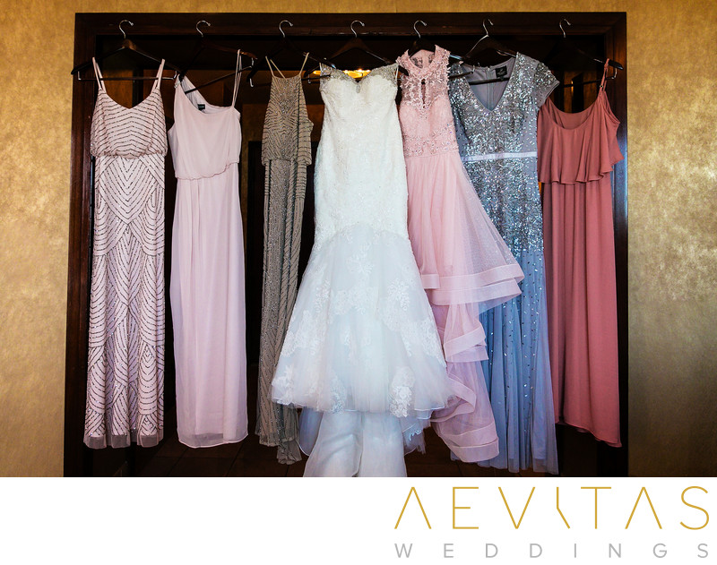 Wedding dress and bridesmaid dresses in Century City