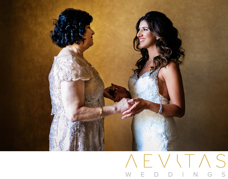 Bride and mom special moment in Century City