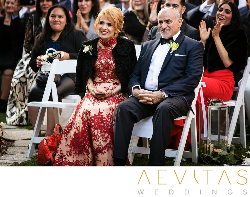 Parent reactions at Century City wedding ceremony