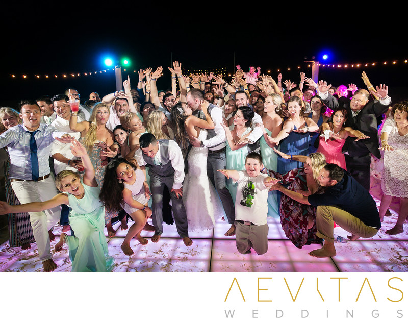 Wedding party groom photo at Omni Cancun Hotel