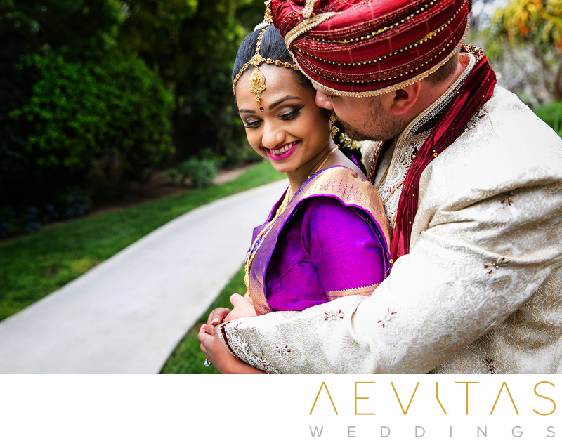 Intimate couple portrait by Indian wedding photographer