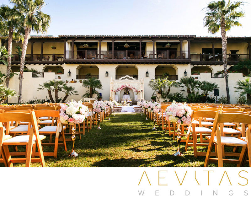 Wedding ceremony venue at Estancia La Jolla Hotel