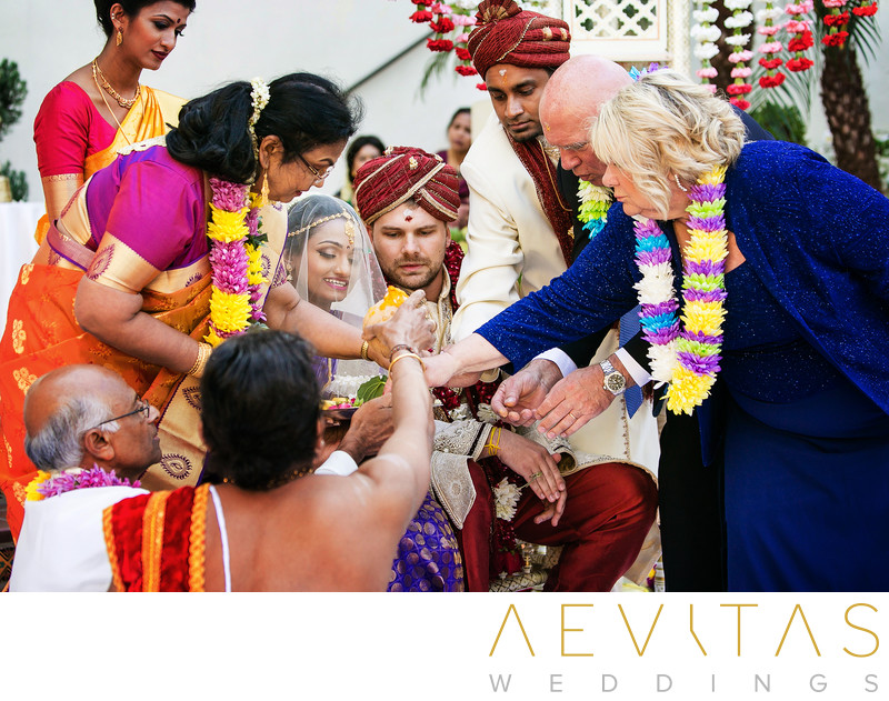 Hindu wedding ritual by San Diego photographer