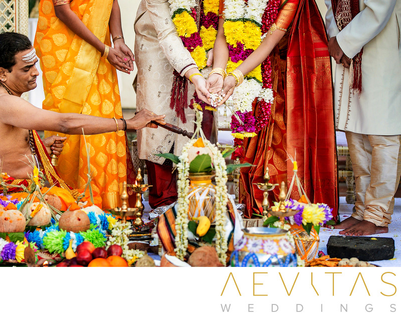 Creative Indian wedding photo in San Diego