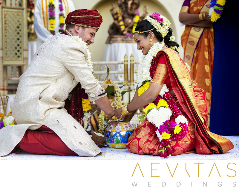 Hindu wedding ritual by Los Angeles photographer