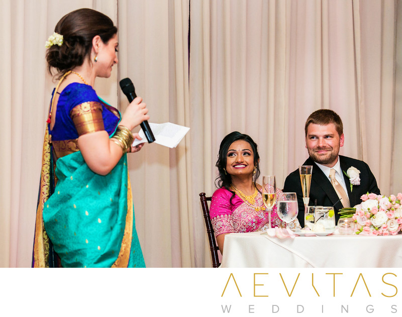 Bridesmaid speech at Indian wedding reception