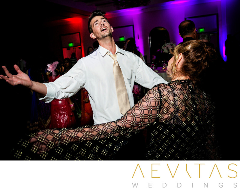 Fun candid dance floor photo in San Diego
