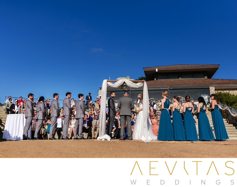 Wedding ceremony in Point Vicente amphitheater