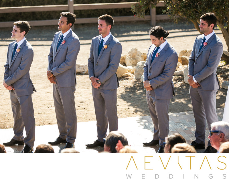 Groomsmen at Point Vicente Interpretive Center wedding
