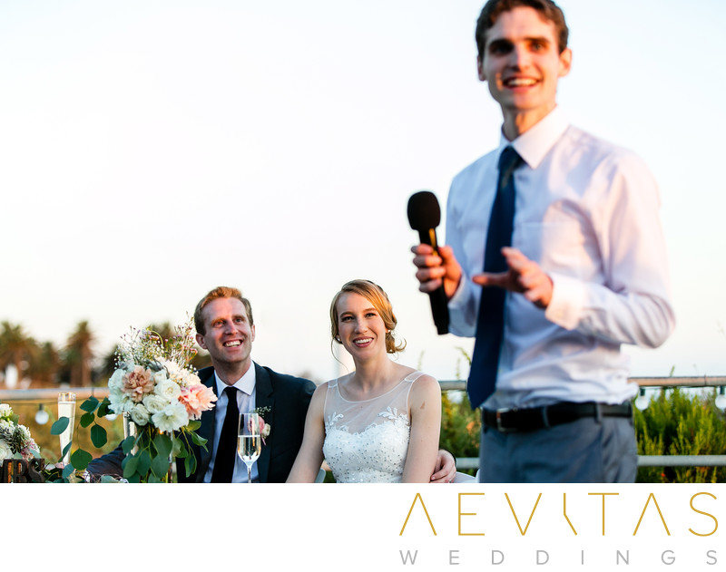 Best man speech at Point Vicente wedding reception